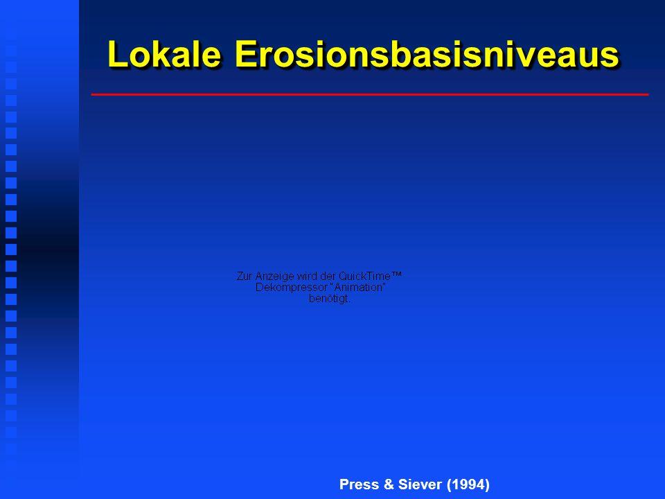 Lokale Erosionsbasisniveaus Press & Siever (1994)