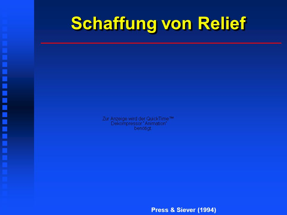 Schaffung von Relief Press & Siever (1994)