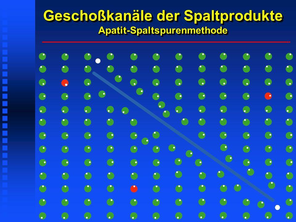 Geschoßkanäle der Spaltprodukte Apatit-Spaltspurenmethode