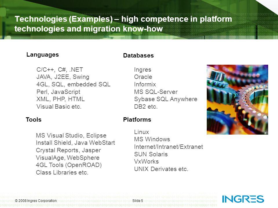 © 2008 Ingres CorporationSlide 6 Unser Ziel: Ingres Bundles und Appliances – Software Stacks für Anwender und Partner