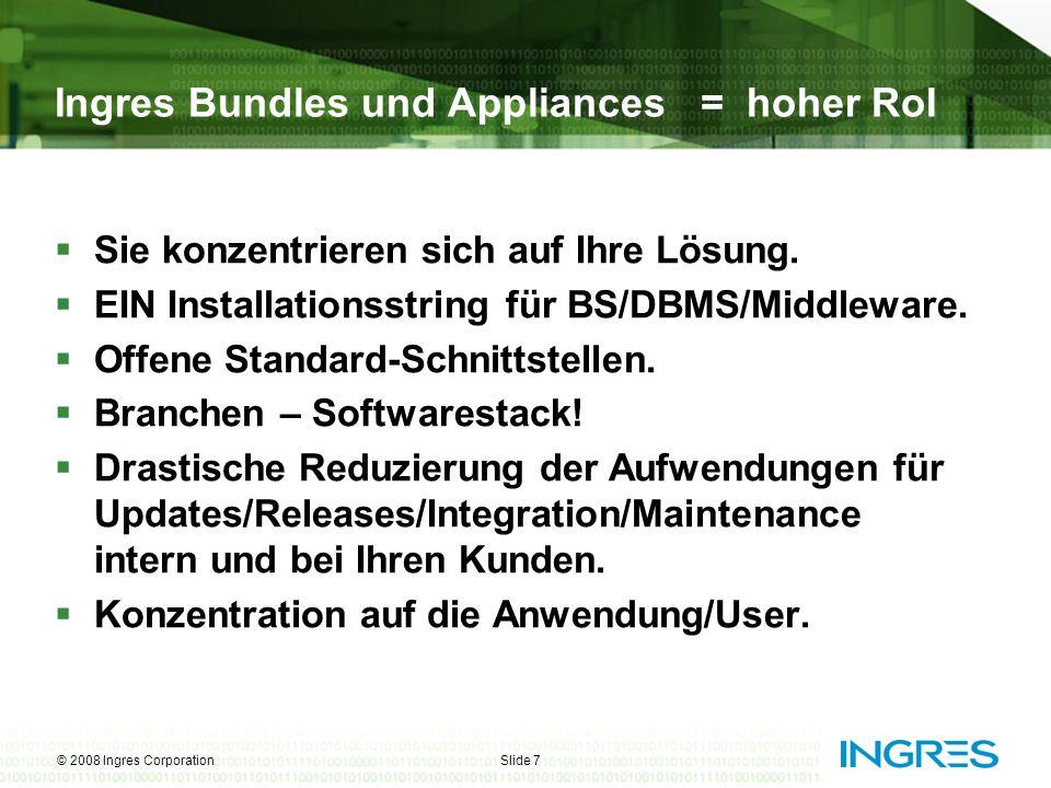 © 2008 Ingres CorporationSlide 8 Ingres Board Sitzungs-Management Ausgangspunkt: strategische Kooperation mit der führenden OS- Kommune in D, der Stadt Schwäbisch-Hall.