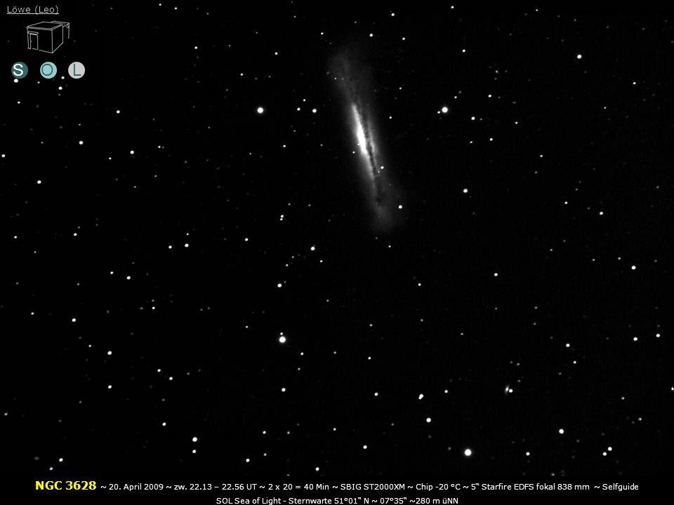 SOL NGC 3628 ~ 20.April 2009 ~ zw.