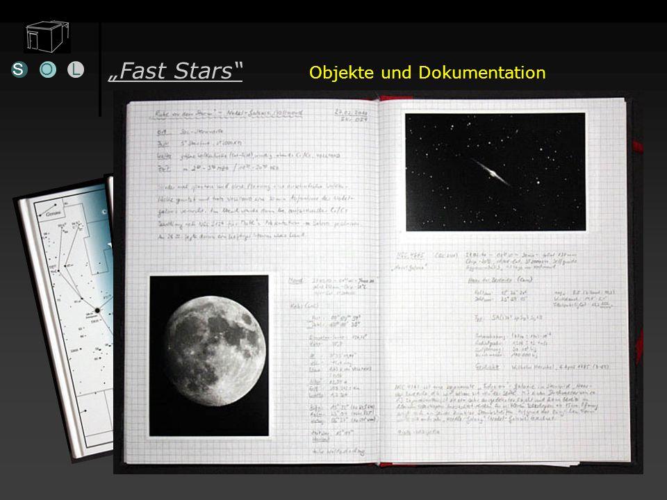 Fast Stars Objekte und Dokumentation Kleines Objekteheftchen SOL Informationsquellen Beobachtungs-Tagebuch