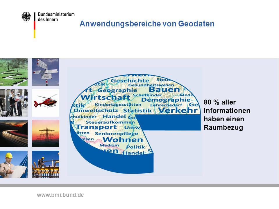 www.bmi.bund.de Nichts geht ohne Geoinformationen - für die mobile Gesellschaft zur Orientierung -