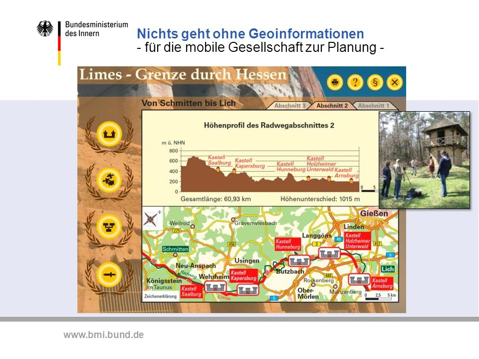 www.bmi.bund.de Nichts geht ohne Geoinformationen - für die mobile Gesellschaft zur Planung -