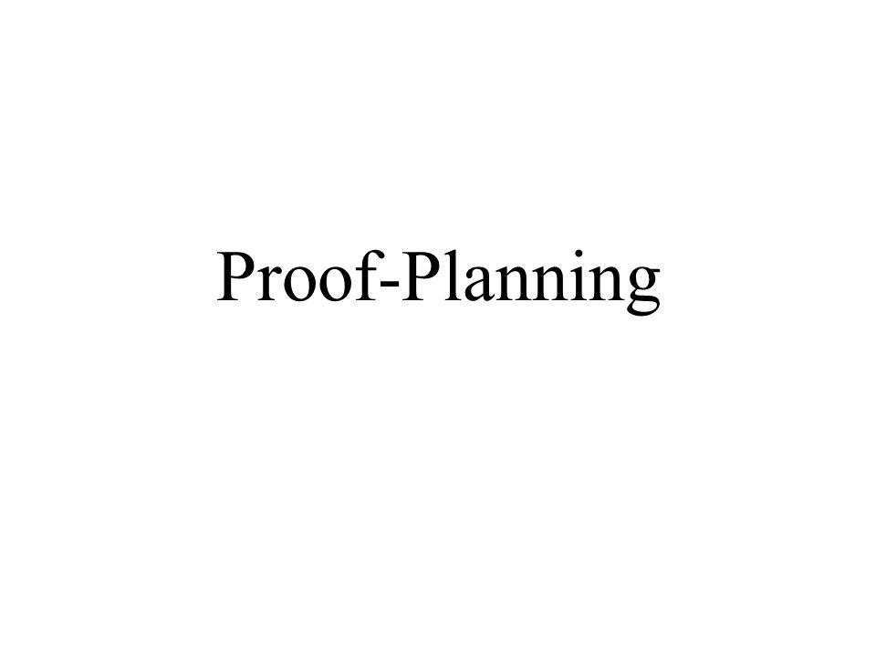 Proof-Planning