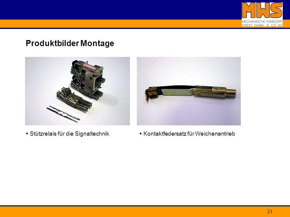 21 Produktbilder Montage Stützrelais für die Signaltechnik Kontaktfedersatz für Weichenantrieb