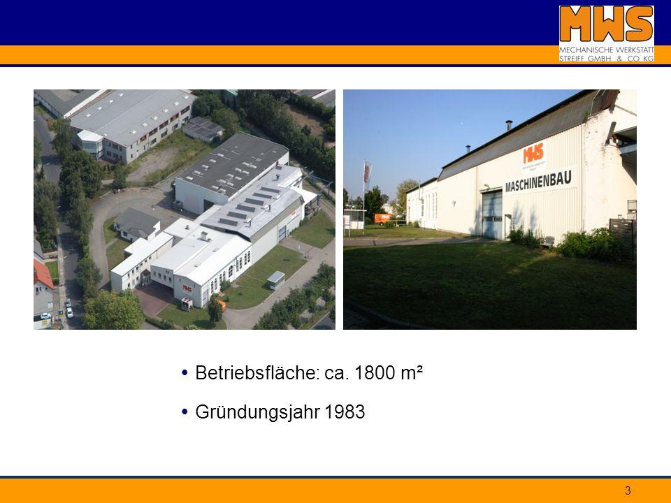 3 Gründungsjahr 1983 Betriebsfläche: ca. 1800 m²
