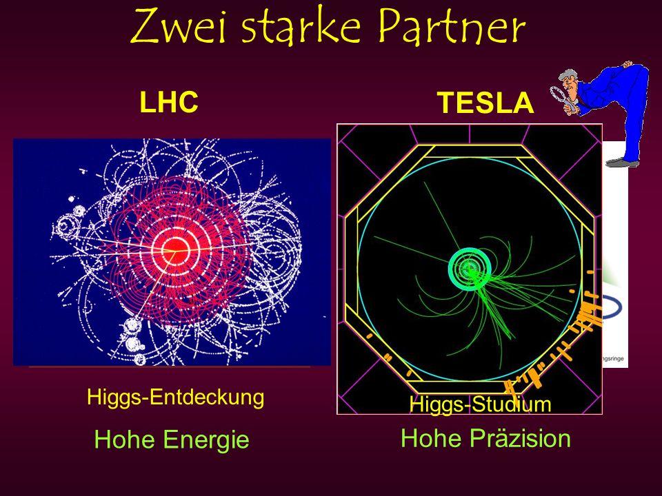 Zwei starke Partner LHC TESLA Hohe Energie Hohe Präzision Higgs-Entdeckung Higgs-Studium