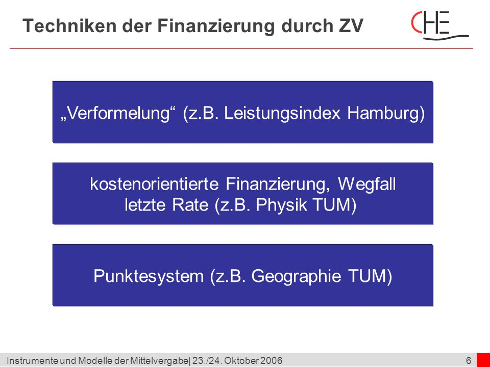 17Instrumente und Modelle der Mittelvergabe  23./24.