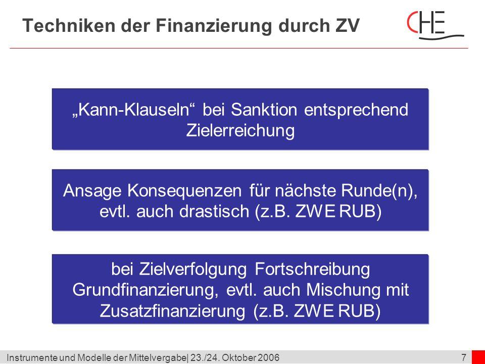 18Instrumente und Modelle der Mittelvergabe  23./24.