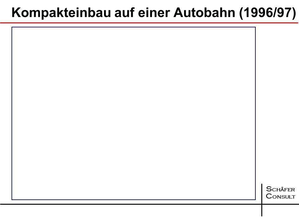 S chäfer C onsult Entwicklung II 1995 1997 199820012005 2006 2007 … … … Einrichtung des Arbeitskreises 7.3.5 der FGSV, Auswertung der Baumaßnahmen bis