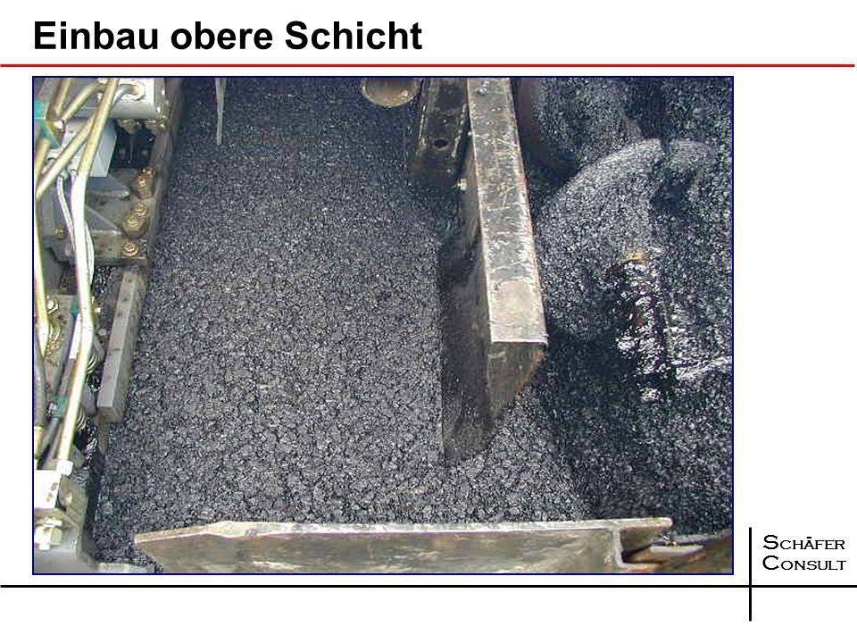 S chäfer C onsult Einbau Kompaktasphalt II. Generation Einbaubohle - untere Schicht Einbau- bohle - obere Schicht