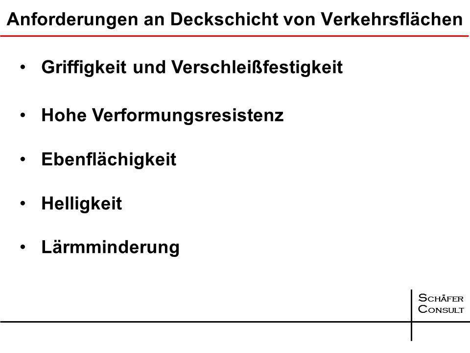 S chäfer C onsult Bohrkerne aus dem Querprofil an der Station 155+150, Richtungsfahrbahn Emden Asphalttragschicht Querprofil Kompaktasphalt BAB A 31 Asphaltbinderschicht: 9,5 bis 10,00 cm, im Mittel 9,9 cm Asphaltdeckschicht: 2,2 bis 2,4 cm, im Mittel 2,3 cm