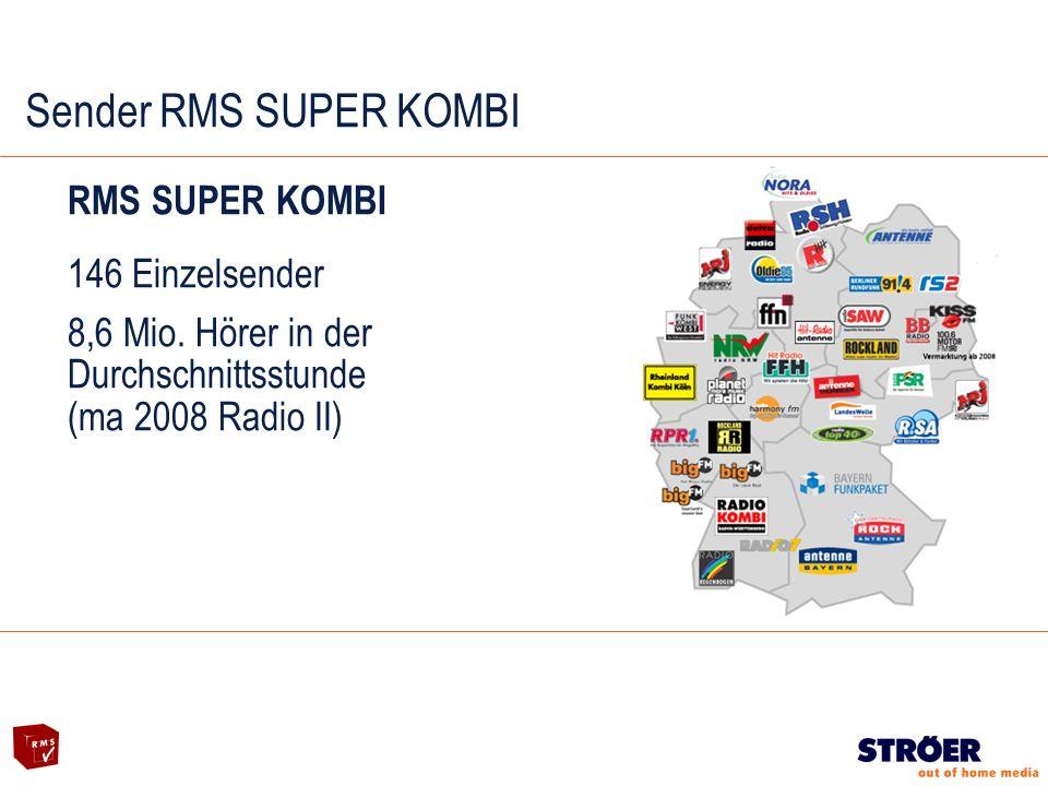 Sender RMS SUPER KOMBI RMS SUPER KOMBI 146 Einzelsender 8,6 Mio.