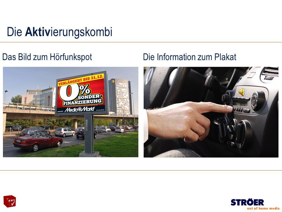 Die Aktiv ierungskombi Das Bild zum Hörfunkspot Die Information zum Plakat
