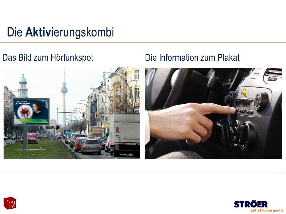 Das Bild zum Hörfunkspot Die Information zum Plakat Die Aktiv ierungskombi