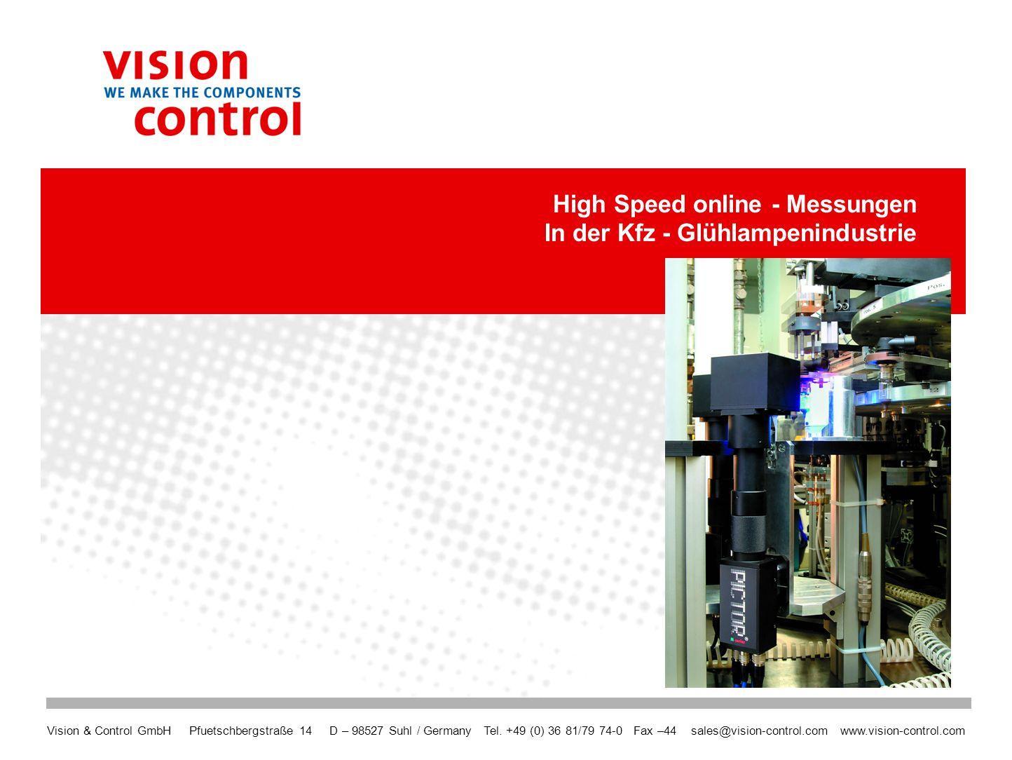 2 Vorstellung: Vision Control Vision Control – die Marktposition GesamtsortimentVision Control entwickelt und produziert alle notwendigen Komponenten für Machine Vision: Optiken, Beleuchtungen, Vision Sensoren, Smart Kameras, Mehrkamerasysteme, Installationshilfen.