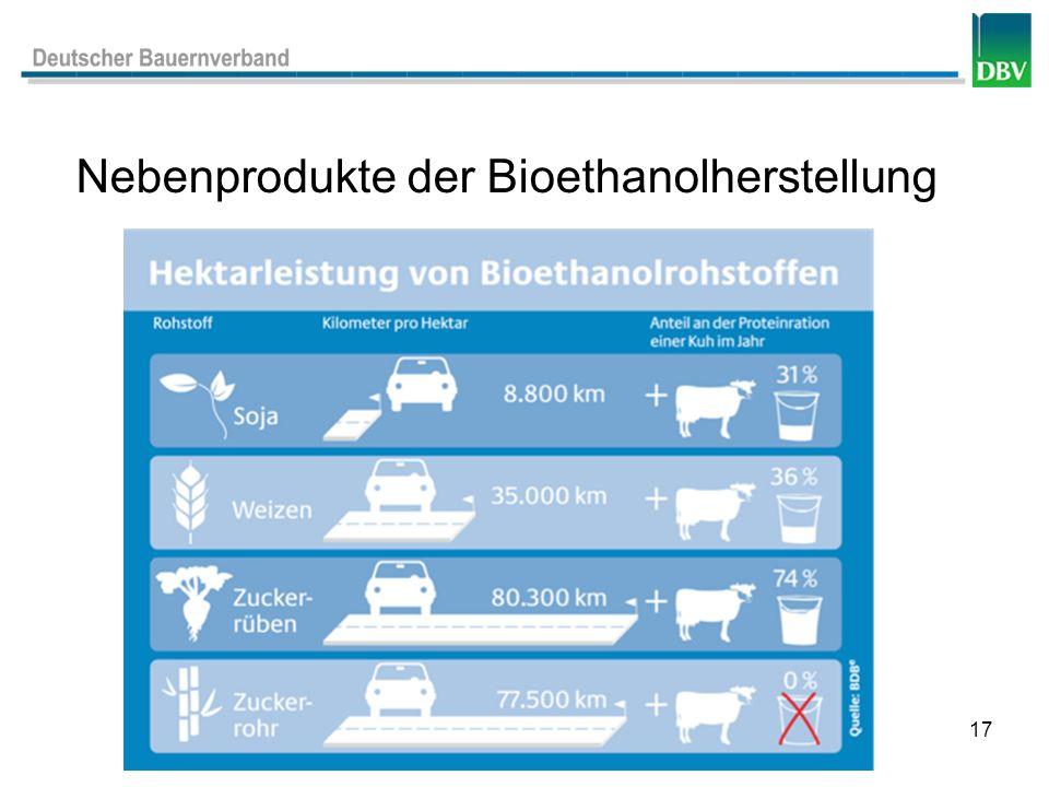 17 Nebenprodukte der Bioethanolherstellung