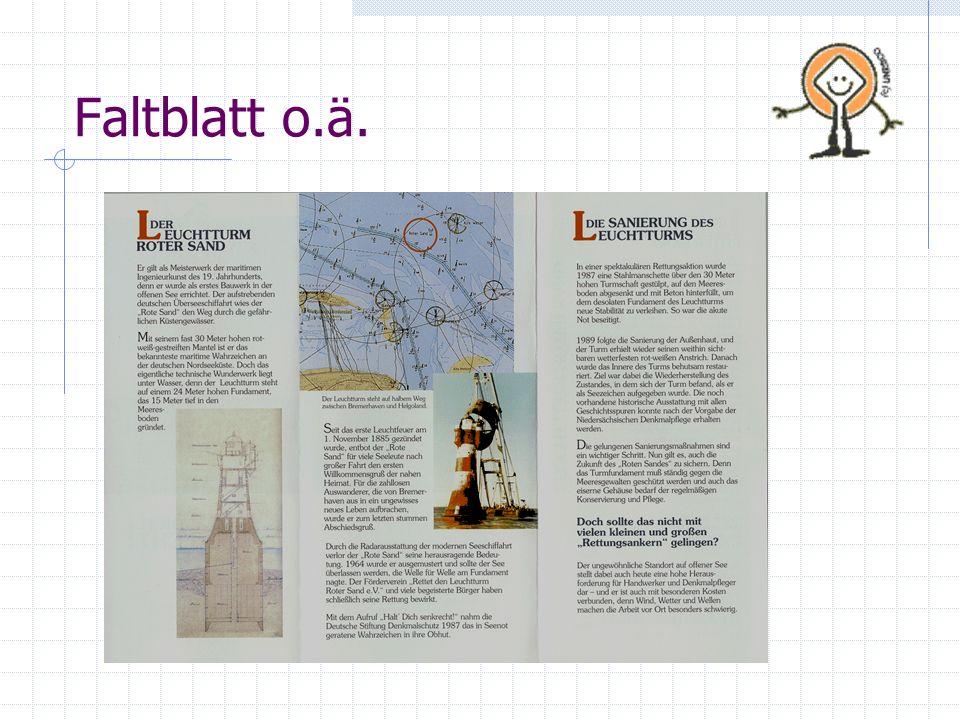 Faltblatt o.ä.