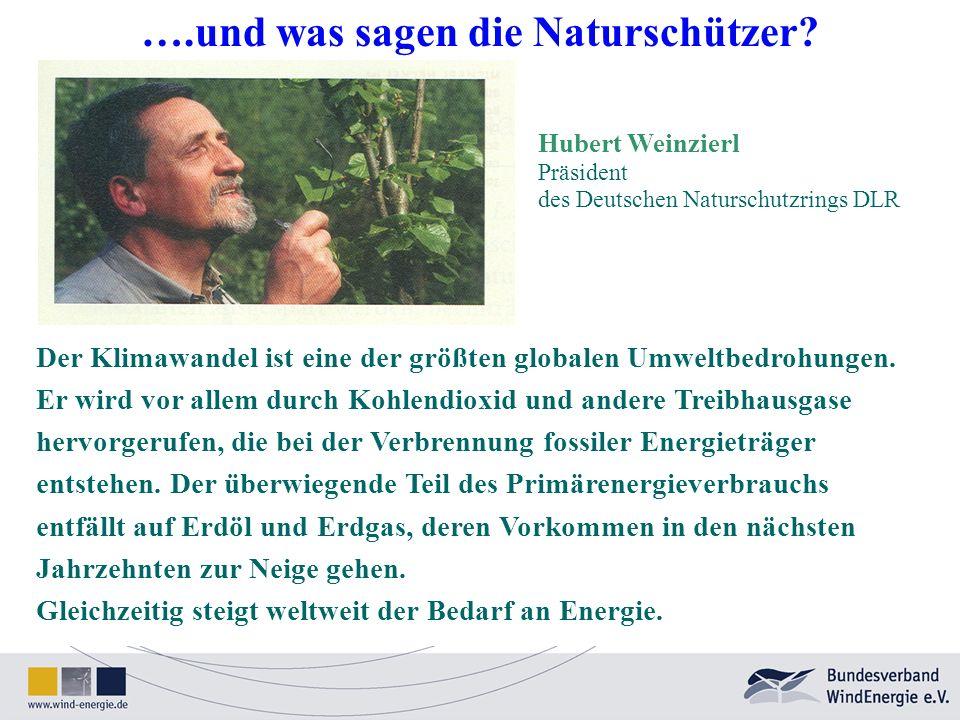 Hubert Weinzierl Präsident des Deutschen Naturschutzrings DLR Der Klimawandel ist eine der größten globalen Umweltbedrohungen. Er wird vor allem durch