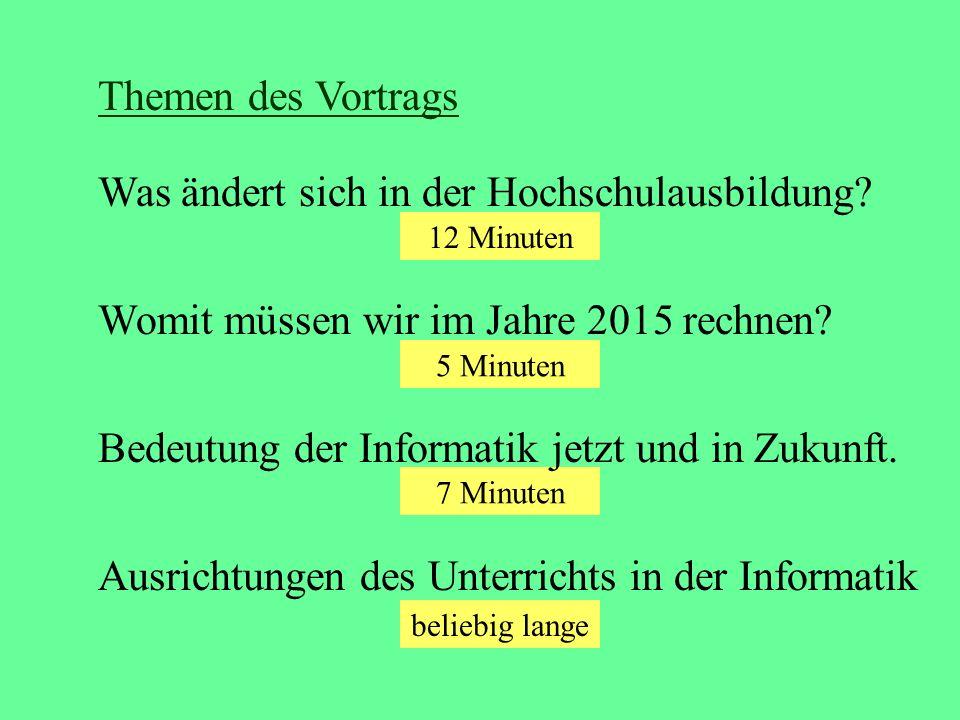 29.10.05GI HILL, V. Claus4 Zentrale Begriffe: Wettbewerb Zeit Kontrolle (der Qualität?)