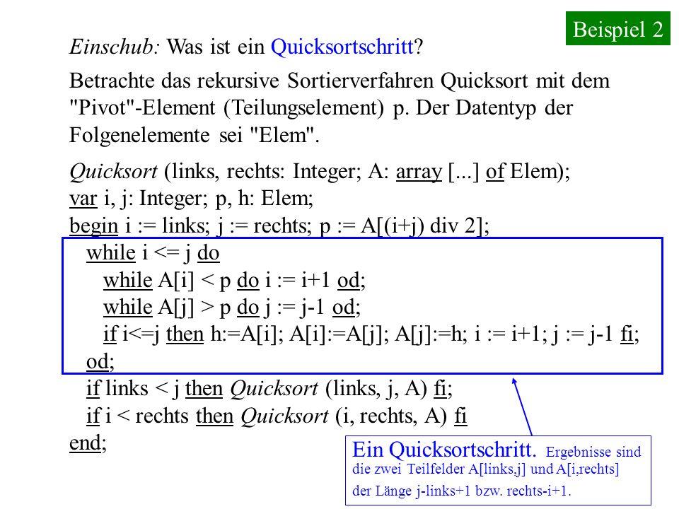 29.10.05GI HILL, V. Claus59 Vorgehen 1: Sortiere die Folge und nimm das Element an der Stelle (n+1) div 2. Zeitaufwand stets: O(n. log(n)). Vorgehen 2