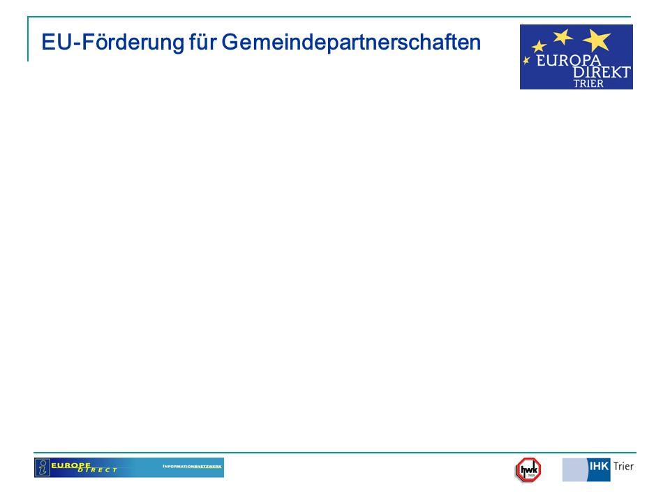 EU-Förderung für Gemeindepartnerschaften