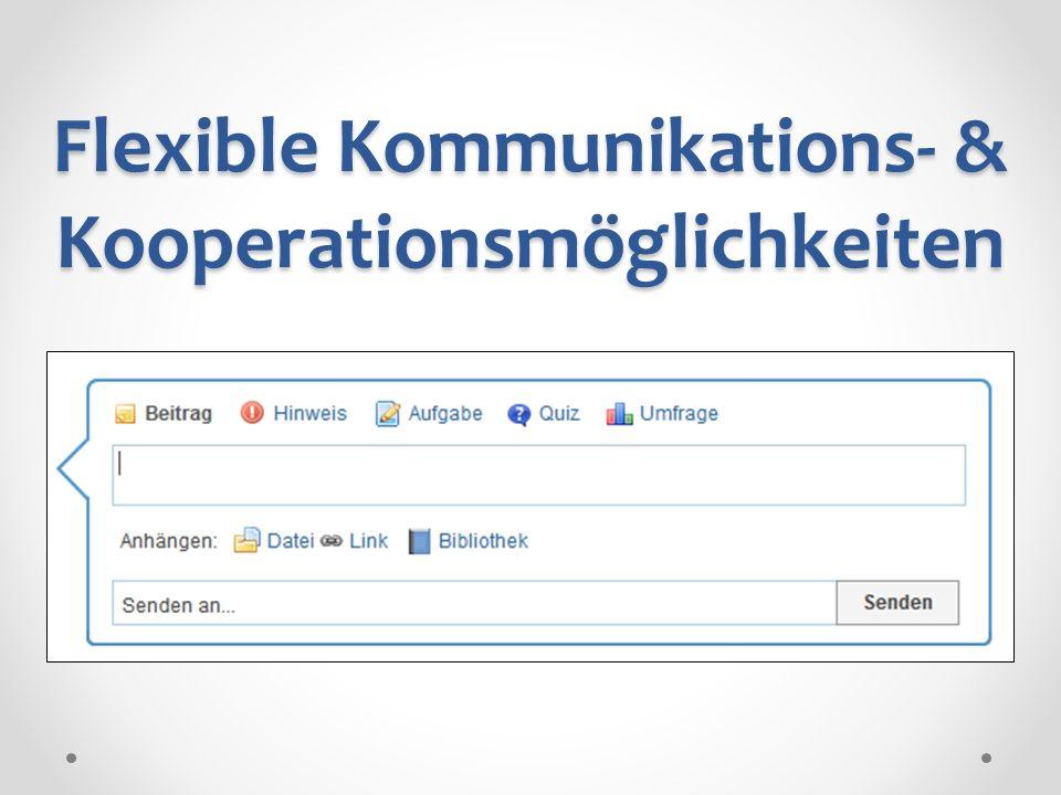 Flexible Kommunikations- & Kooperationsmöglichkeiten