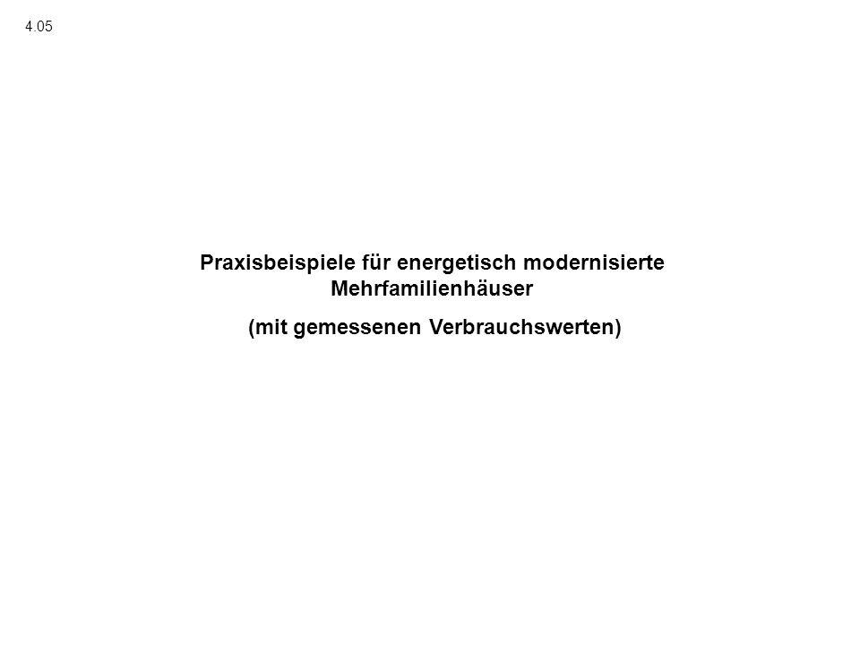 Praxisbeispiele für energetisch modernisierte Mehrfamilienhäuser (mit gemessenen Verbrauchswerten) 4.05