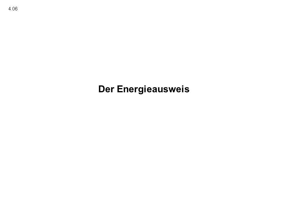 Der Energieausweis 4.06