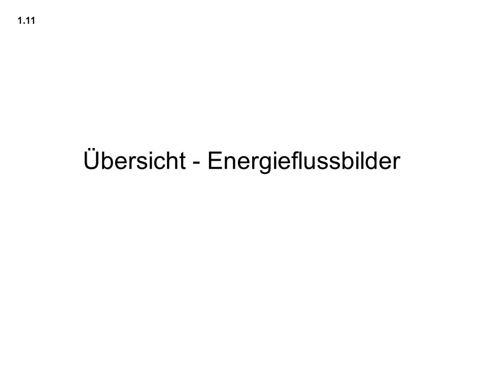Übersicht - Energieflussbilder 1.11