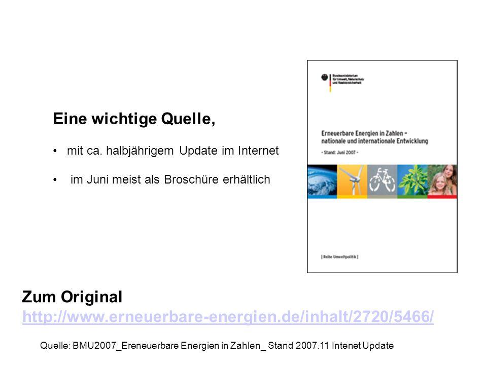 Zum Original http://www.erneuerbare-energien.de/inhalt/2720/5466/ Eine wichtige Quelle, mit ca. halbjährigem Update im Internet im Juni meist als Bros