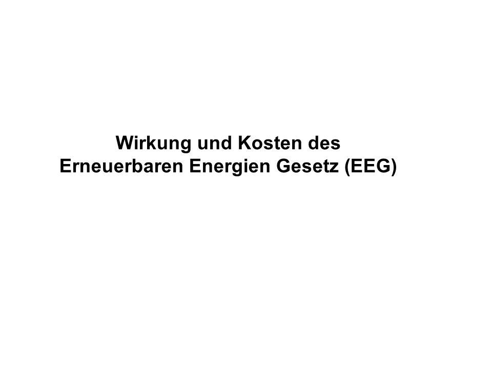 Wirkung und Kosten des Erneuerbaren Energien Gesetz (EEG)
