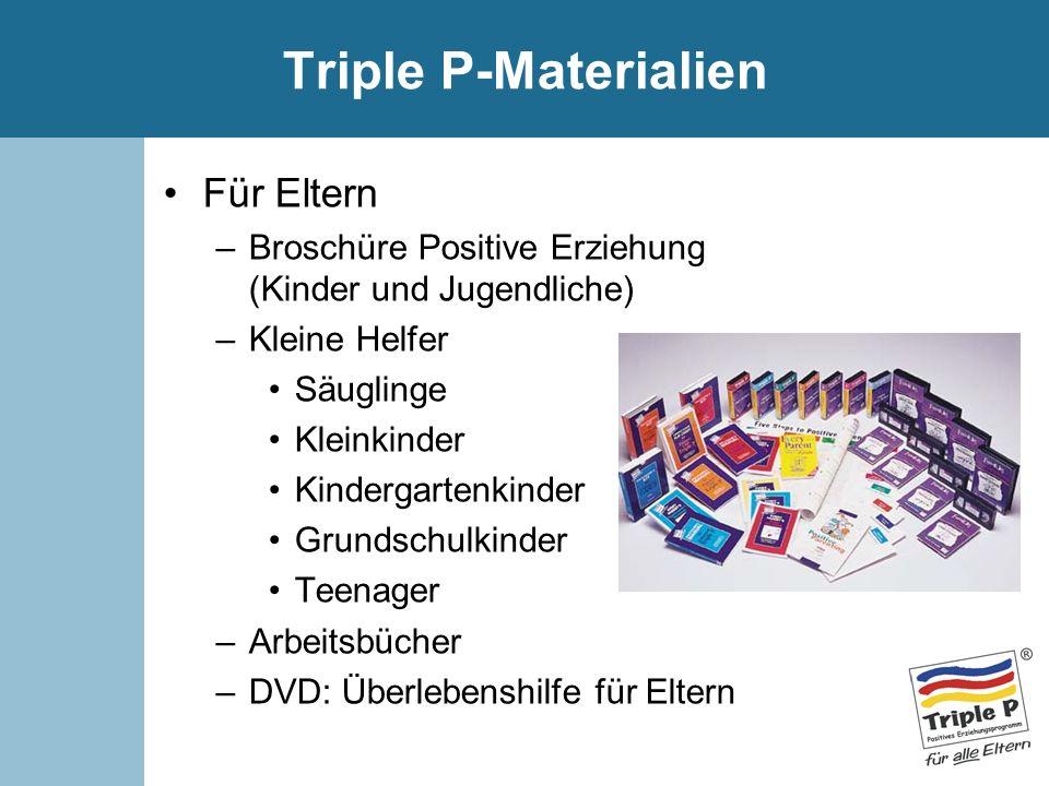 Triple P-Materialien Für Eltern –Broschüre Positive Erziehung (Kinder und Jugendliche) –Kleine Helfer Säuglinge Kleinkinder Kindergartenkinder Grundsc