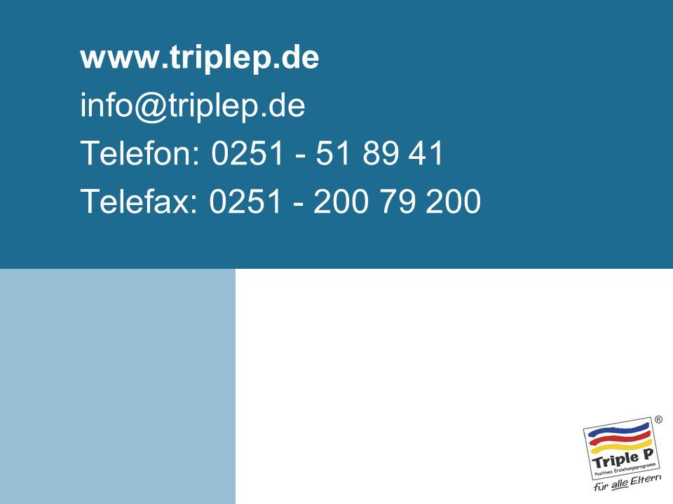 www.triplep.de info@triplep.de Telefon: 0251 - 51 89 41 Telefax: 0251 - 200 79 200