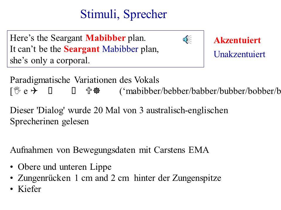 Stimuli, Sprecher Heres the Seargant Mabibber plan. It cant be the Seargant Mabibber plan, shes only a corporal. Dieser 'Dialog' wurde 20 Mal von 3 au