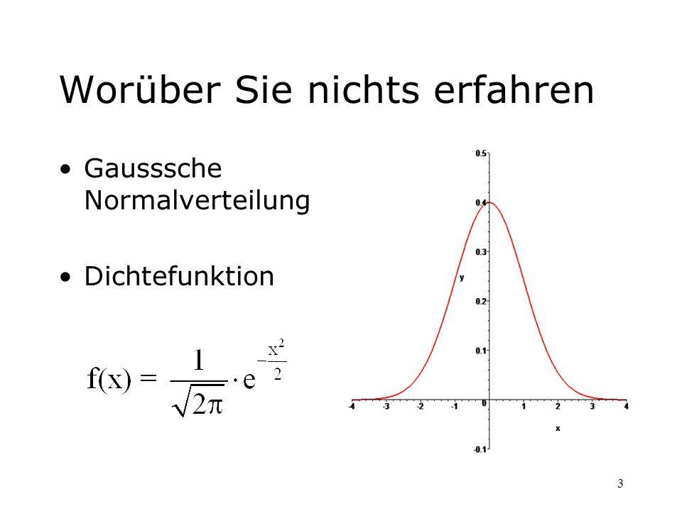 64 Neue Probleme: Mathematisch: –Was sind zufällige Ereignisse.