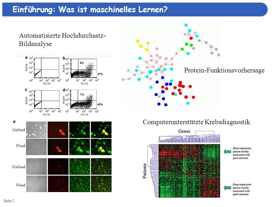 Seite 411/16/2013| Intelligente Autonome Systeme Was ist maschinelles Lernen.