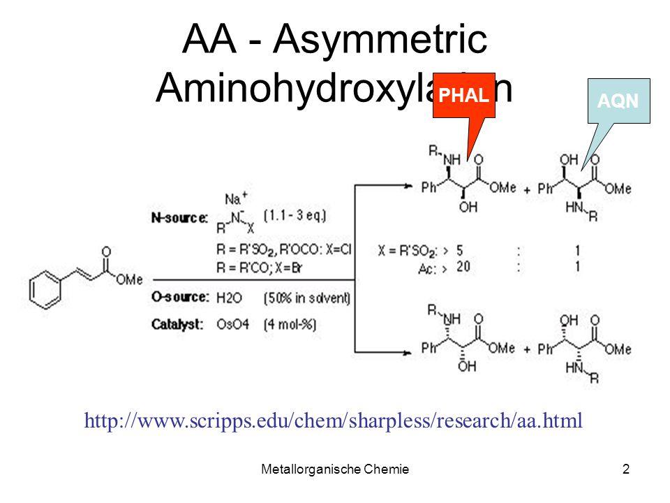 Metallorganische Chemie23 Dötz Reaktionsbeispiele Gleichgewicht Alken- -Komplex Dirigiert die Umlagerung Benzochinon sterisch überfrachtet