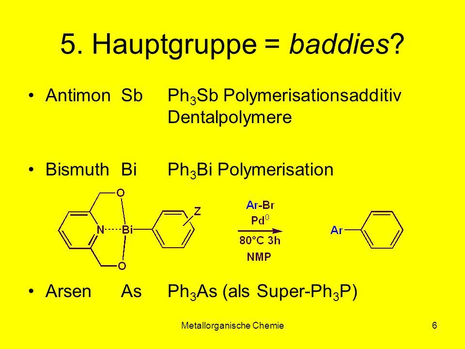 Metallorganische Chemie17 Fischer Carbene Carben:sp 2 hybridisiert Doppelbindungsanteile: M-C + C-X
