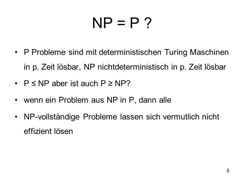 6 Phasenübergänge Motivation: Goldberg(1979); SAT ist im Durchschnitt in O(n²) lösbar NP: worst case scenarios Bestimmung von average cases and hard cases Qualität des Generierungsverfahren der Formelmenge und deren Bezug zu realen Problemen analytisch ist es nicht beweisbar, (n )
