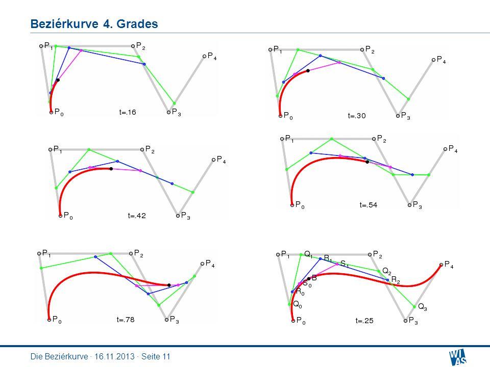Beziérkurve 4. Grades Die Beziérkurve · 16.11.2013 · Seite 11