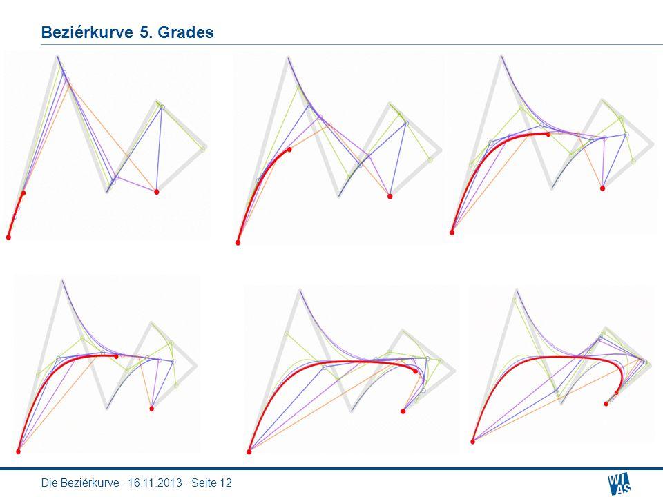 Beziérkurve 5. Grades Die Beziérkurve · 16.11.2013 · Seite 12