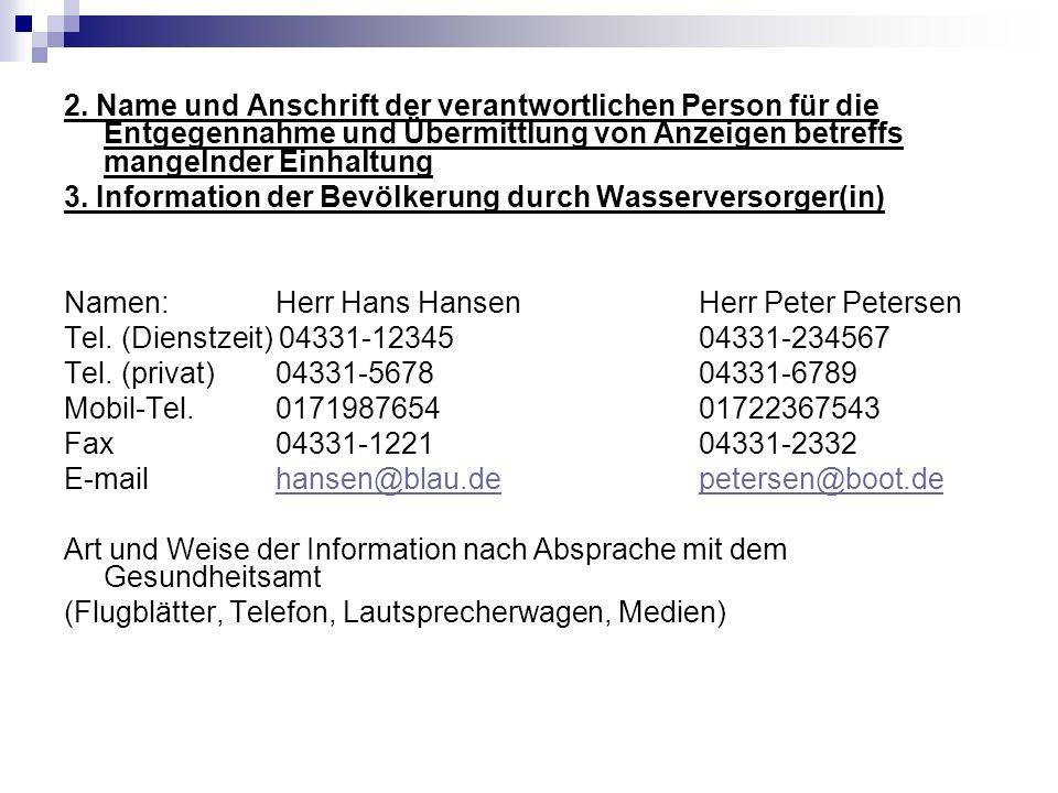 4.Untersuchungslabor Name: Labor Bio&Chemie Anschrift: Robert-Koch-Str.