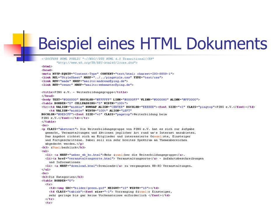 Überblick Teilweise basierend auf SelfHTML (http://www.teamone.de/selfhtml)http://www.teamone.de/selfhtml 1991 am CERN in Genf entwickelt ( http://gro