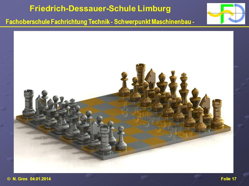 © N. Gros 04.01.2014Folie 17 Friedrich-Dessauer-Schule Limburg Fachoberschule Fachrichtung Technik - Schwerpunkt Maschinenbau -