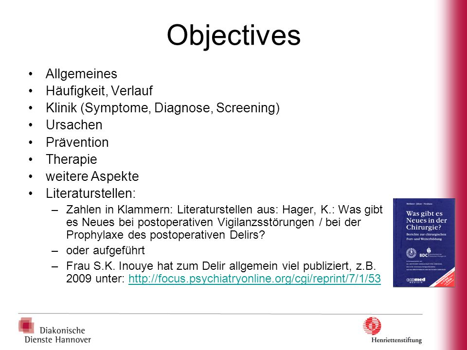 Postoperatives Delir (POD, PD) postoperative delirium (POD) ICD 10, DSM IV postoperative cognitive dysfunction (POCD) kogn.