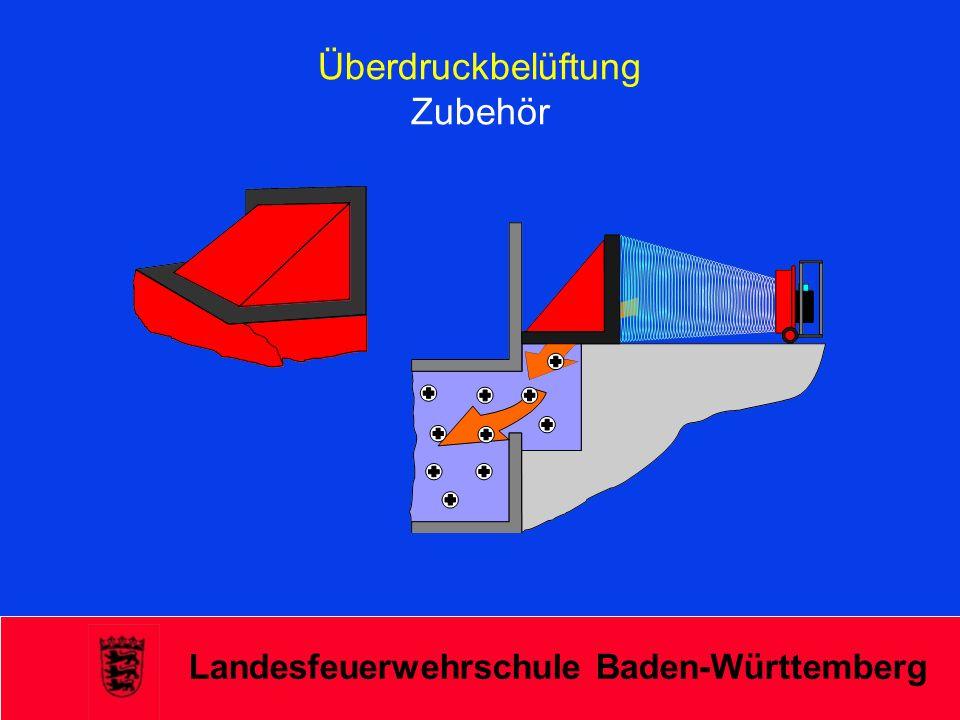 Landesfeuerwehrschule Baden-Württemberg Überdruckbelüftung Zubehör