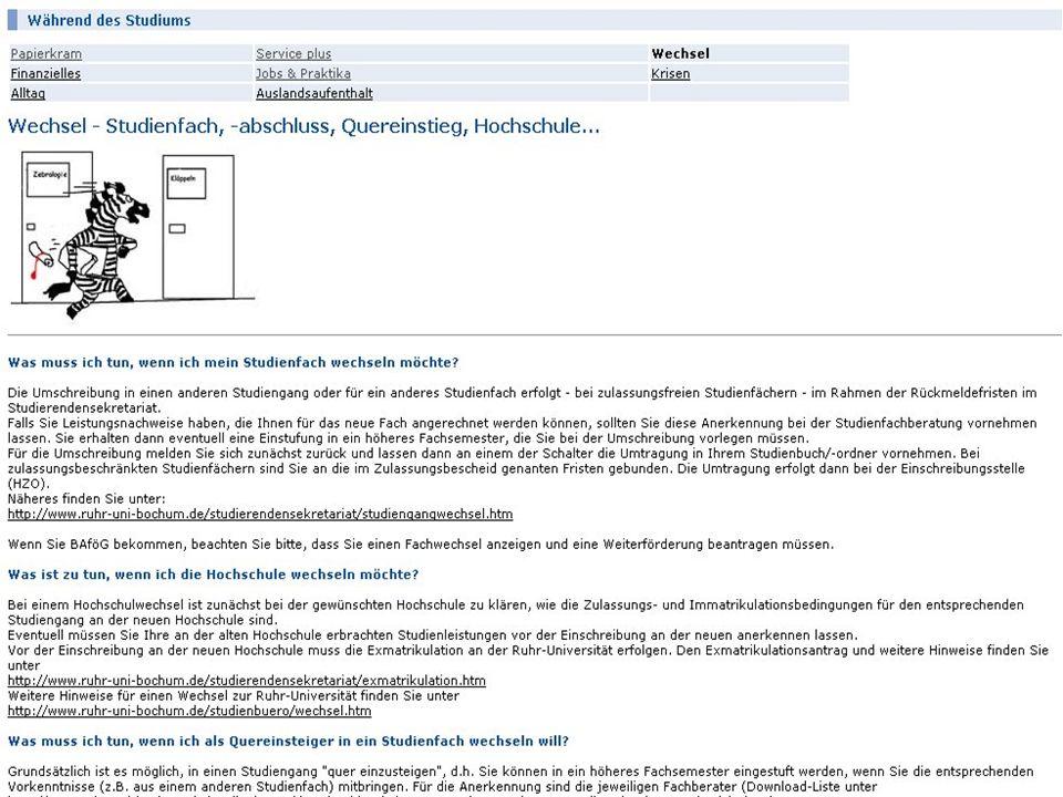 Ruhr-Universität Bochum Virtualisierung der Beratung 13Career Service & Alumni - Dr. Britta Freis